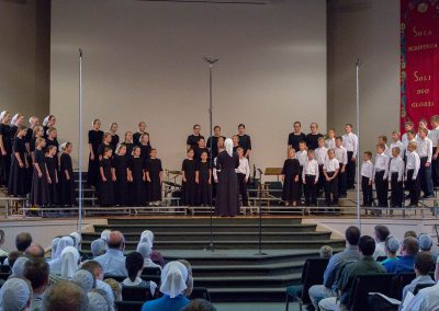 Singing at the Choral Festival