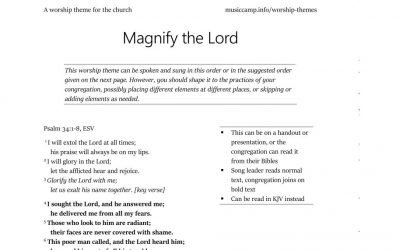 Worship Themes